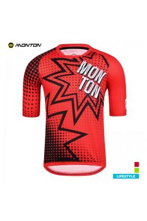 MTB jersey short sleeve LIFESTYLE POW red