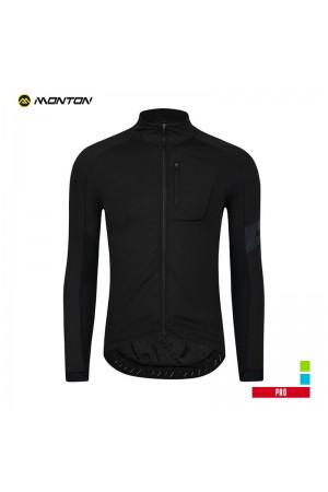 Winter cycling jacket mens PRO Joes black