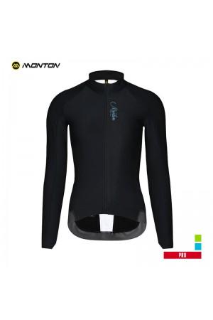 Long sleeve fleece cycling jersey women PRO Panther