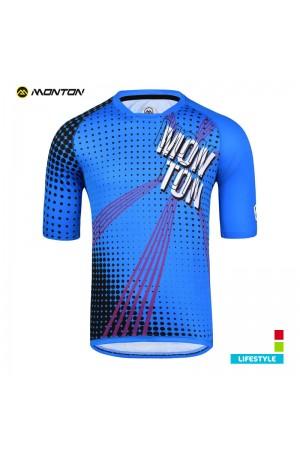 MTB jersey short sleeve LIFESTYLE BANG blue S L XL XXL