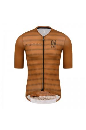 2021 Skull Monton Mens Short Sleeve Cycling Jersey 06am Brown