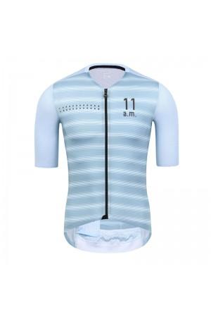 2021 Skull Monton Mens Short Sleeve Cycling Jersey 11am Light Blue