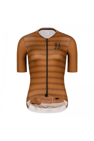 2021 Skull Monton Womens Short Sleeve Cycling Jersey 06am Brown