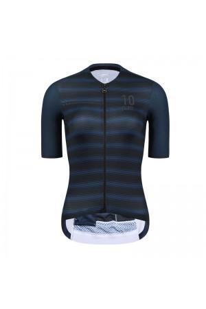 2021 Skull Monton Womens Short Sleeve Cycling Jersey 10pm Night Blue