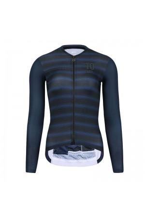 2021 Skull Monton Womens Long Sleeve Cycling Jersey 10pm Night Blue