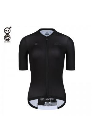 SKULL MONTON Womens Cycling Jersey WEEKEND Black