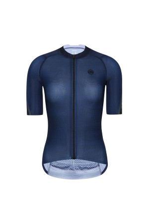 2021 Womens Short Sleeve Cycling Jersey PRO CarbonFiber Blue