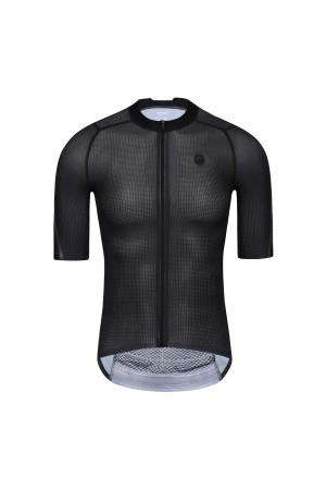 2021 Mens Short Sleeve Cycling Jersey PRO CarbonFiber Black