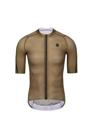 2021 Mens Short Sleeve Cycling Jersey PRO CarbonFiber Brown