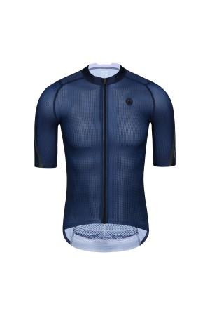 2021 Mens Short Sleeve Cycling Jersey PRO CarbonFiber Blue