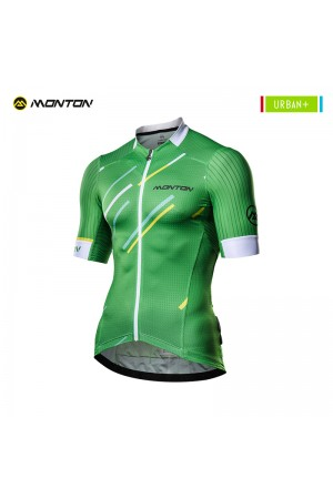 2018 Cycling Jersey Men Urban Plus Colore Pioggia Green