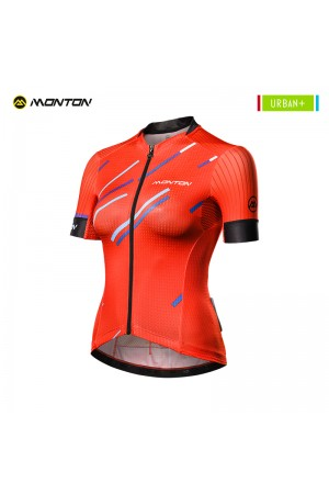 Cycling Jersey Women Urban Plus Colore Pioggia Red Clearance XS S M L
