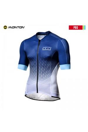 2018 Cycling Jersey Men PRO Geo scale Blue White
