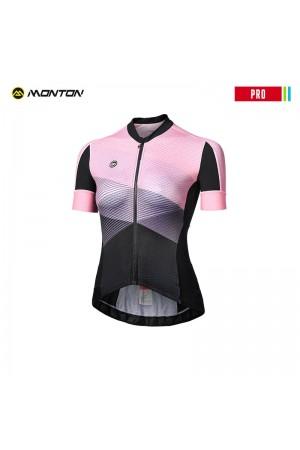 2018 Cycle Jersey Womens PRO Magic Land Black Pink