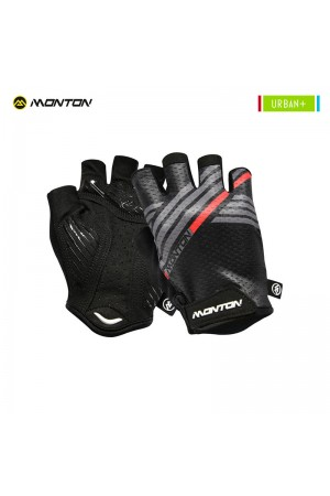2018 Mountain Bike Gloves Urban Plus Graffio Black Gray