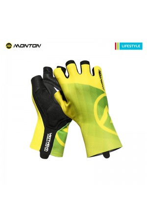 2018 Short Finger Padded Cycling Gloves LifeStyle Miraggio Yellow