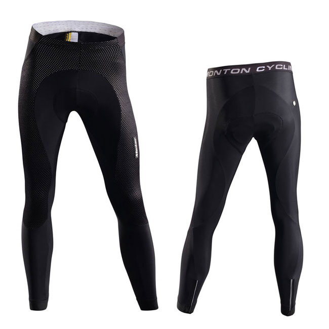 Men's Winter Thermal cycling tights front and back