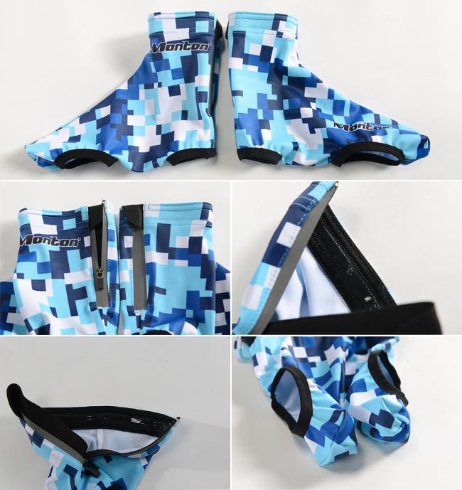 Cycling Shoe Covers Light Weight Firmament Blue Details
