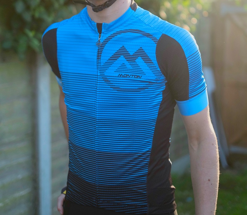 Black and Blue Cycling Jersey