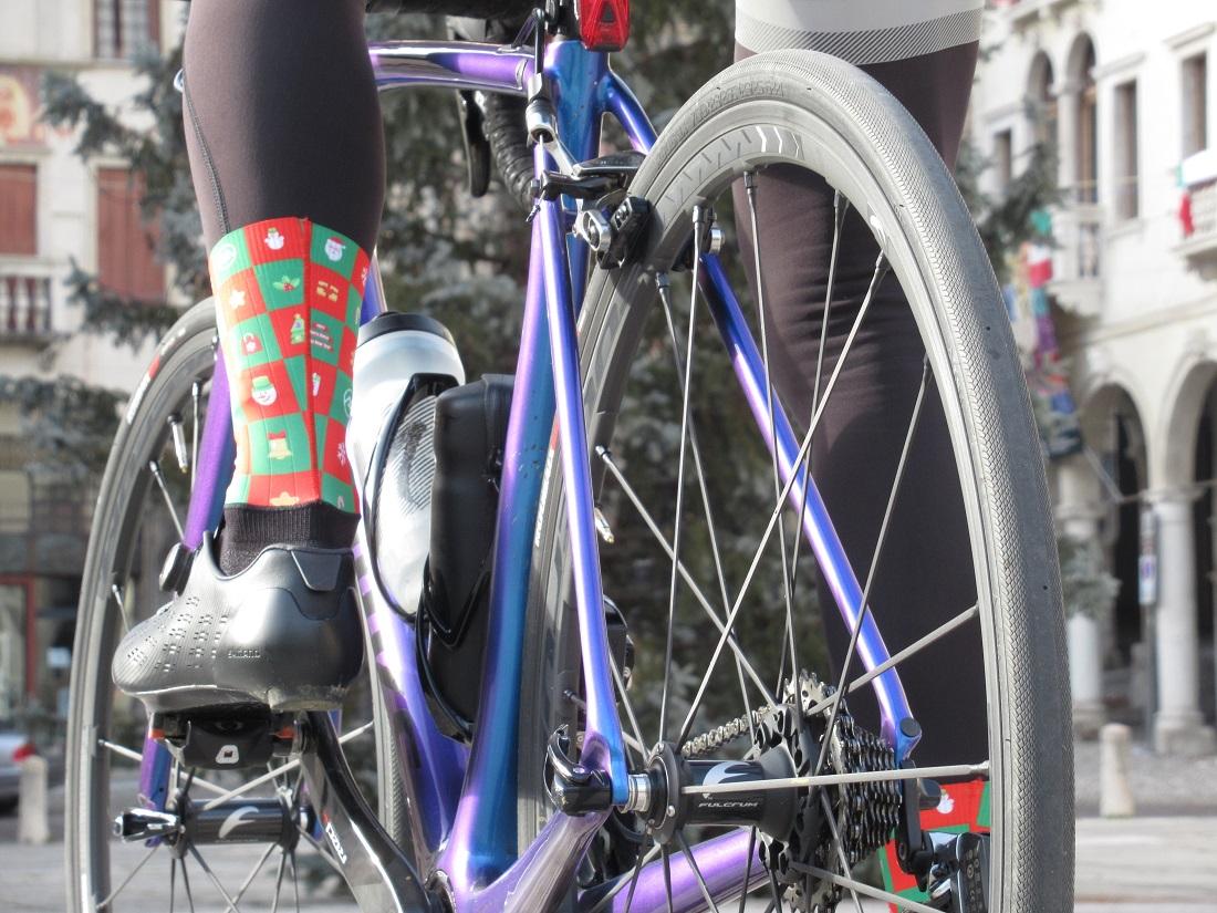 christmas cycling socks