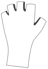 Full Length Cycling Gloves template