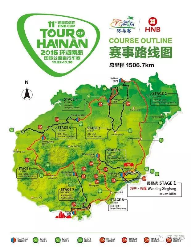 Tour of Hainan Map