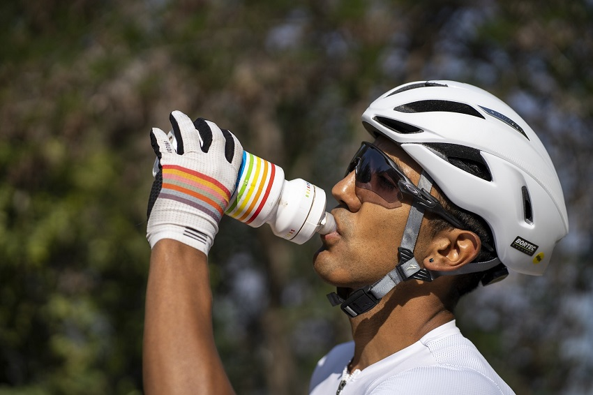 white bike water bottle