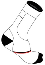 20CM Socks template