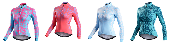 2015 Womens Cycle Jersey Veix Light Blue