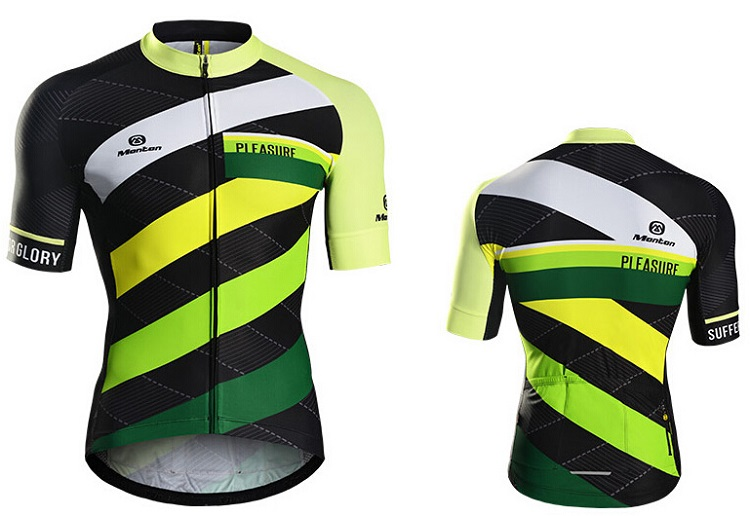 f5b2bc9dc8aa8 Summer Short Sleeve Green Cycling Jersey Cool for Men