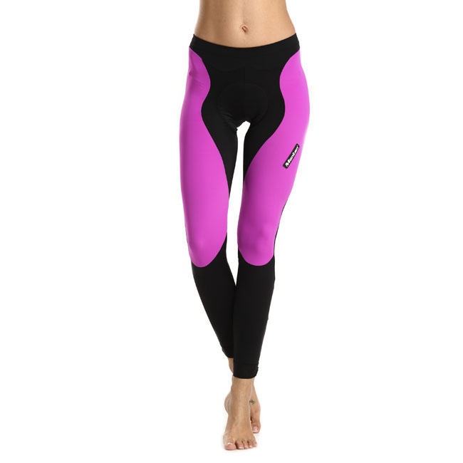 Monton 2015 Pro Plus Sarin Purple Womens Cycling Tights on Model
