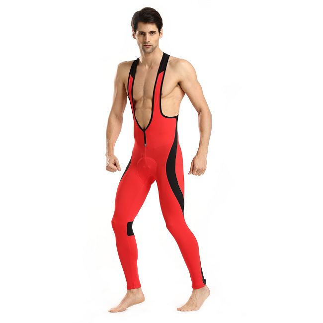 Monton 2015 Cycling Bib Tights Scirocco Red on Model