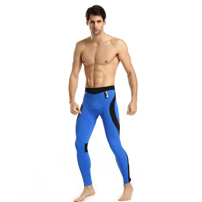 Monton 2015 Mens Bike Tights Scirocco Blue on Model