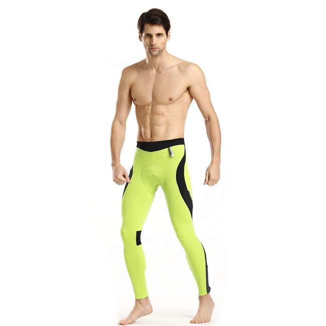 Monton 2015 Cycling Tights Mens Scirocco Fluorescent Yellow on Model
