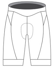 Triathlon Shorts template