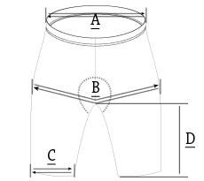 custom (bib) shorts size chart