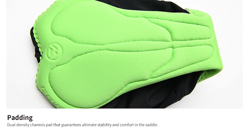 chamois padding of bike shorts