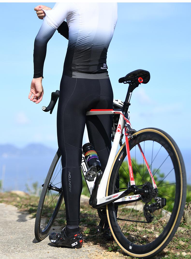 fleece lined cycling bib tights