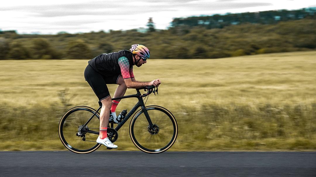 black cycling bib shorts