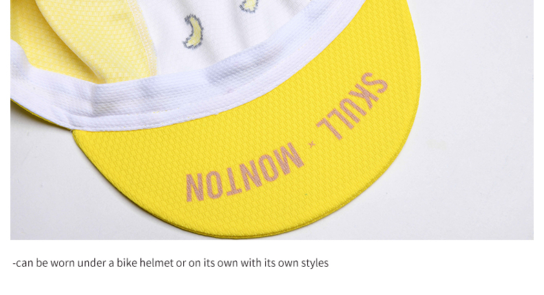 can be worn under a bike helmet or on its own with its own style
