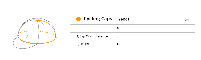 cycling hat size chart
