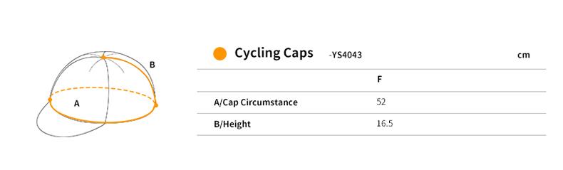 cycling cap size chart