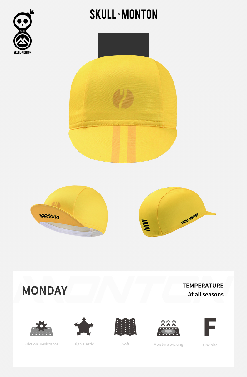 yellow cycling caps
