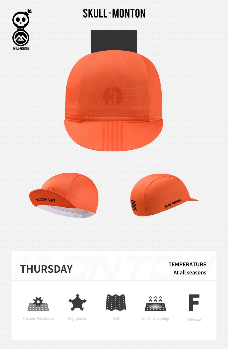 orange cycling caps