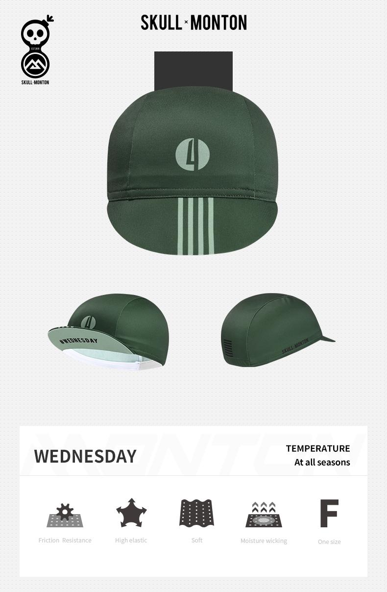 green cycling caps