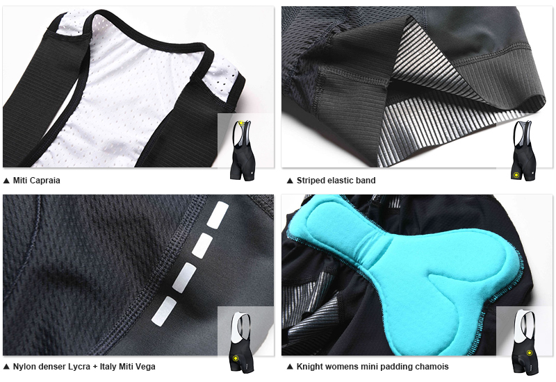 womens cycling bib shorts