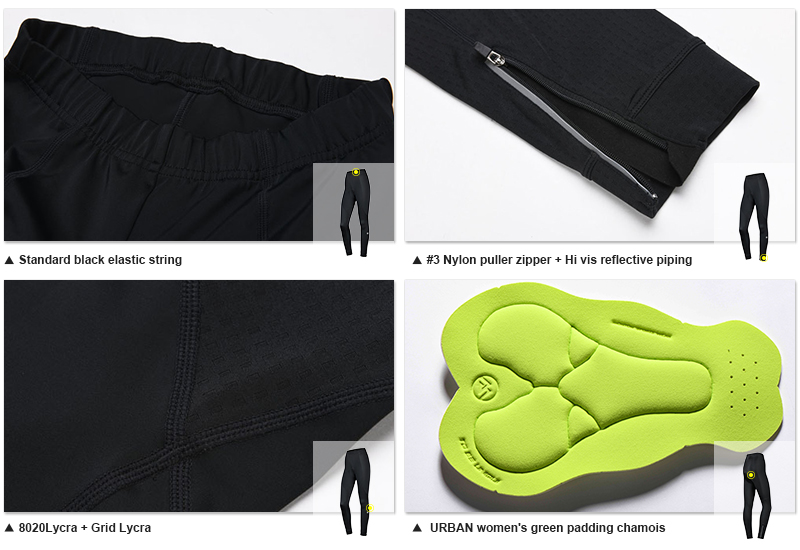 Padded bike pants