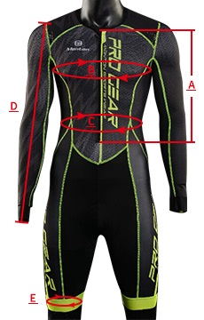 Cycling Skin Suit Long Sleeve Sizing