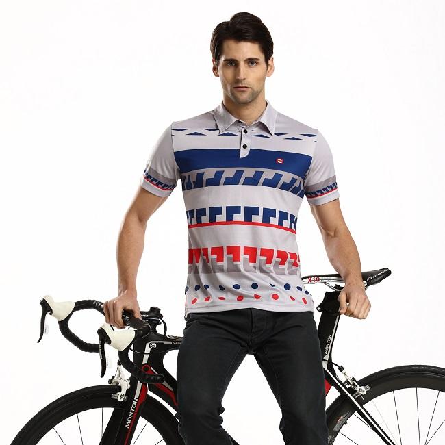 Monton Cycling Polo Shirts Eternal Summer on Model