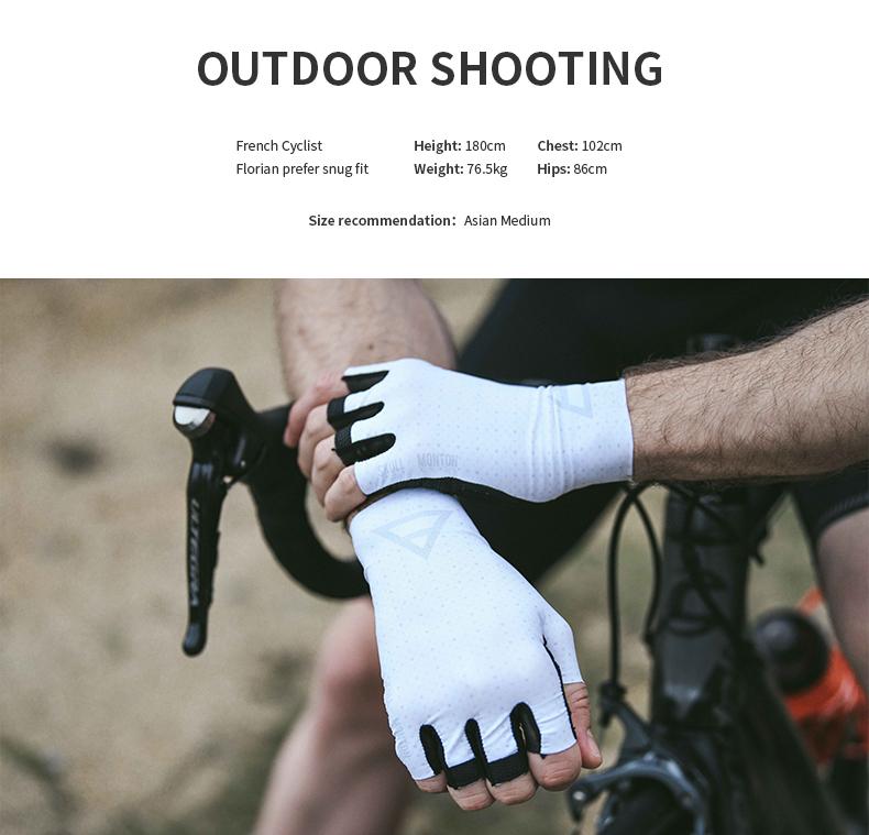 short finger cycling gloves